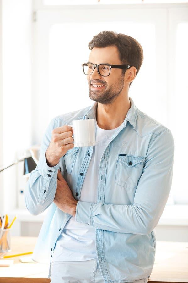 Minuta dla świeżej kawy obrazy stock