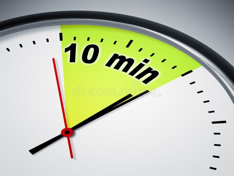 minute 10 illustration stock