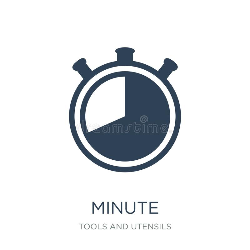 Minute icon in trendy design style. minute icon isolated on white background. minute vector icon simple and modern flat symbol for. Web site, mobile, logo, app stock illustration