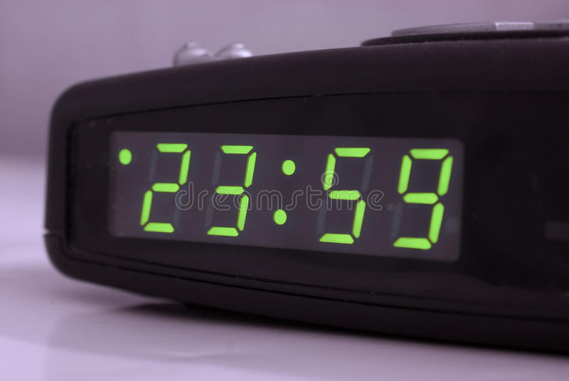 Download Minute to midnight stock photo. Image of alarmclock, green - 13930618