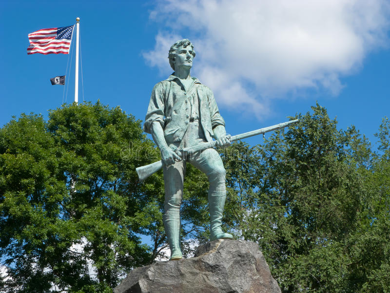 Minuteman-Statue stockbild