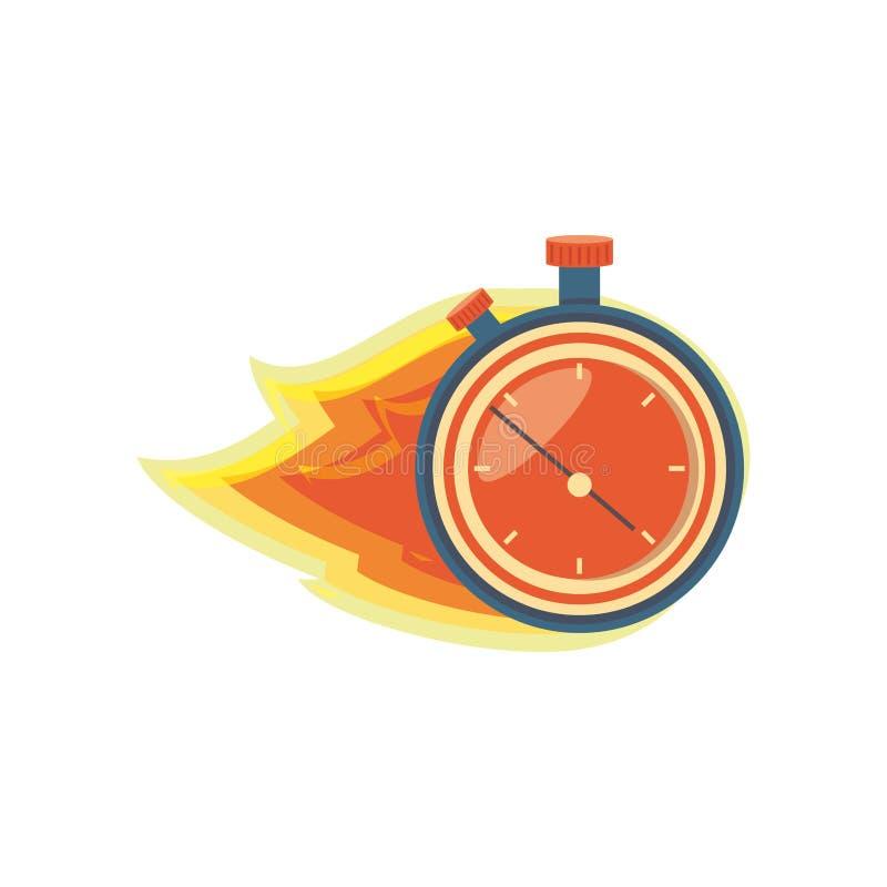 Minuterie de chronomètre avec la flamme illustration libre de droits
