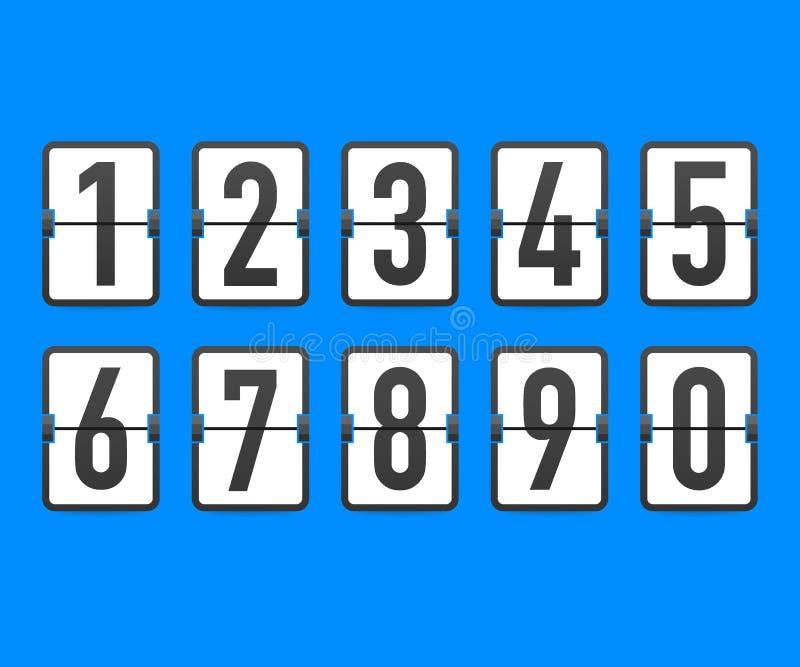 Minuterie de compteur d'horloge de compte à rebours de secousse Le compte restant de temps de vecteur renversent vers le bas le c illustration de vecteur
