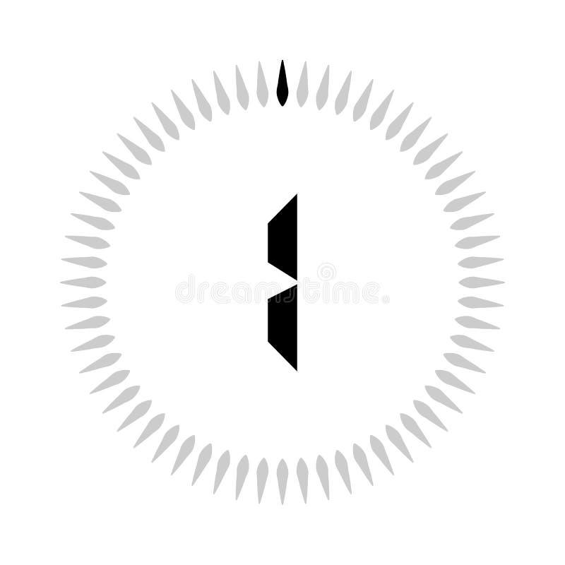 Minuterie des minutes la 1 ou des secondes illustration libre de droits