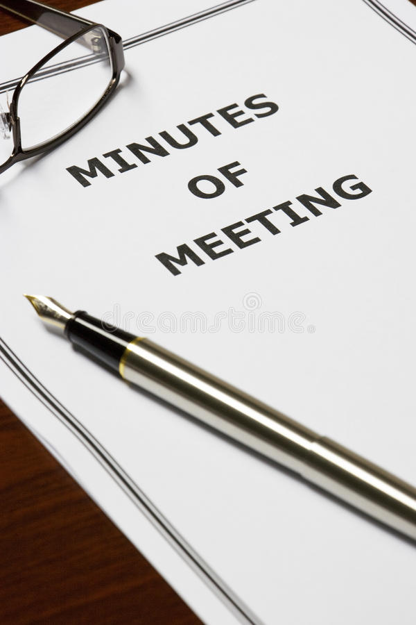 minits of meeting