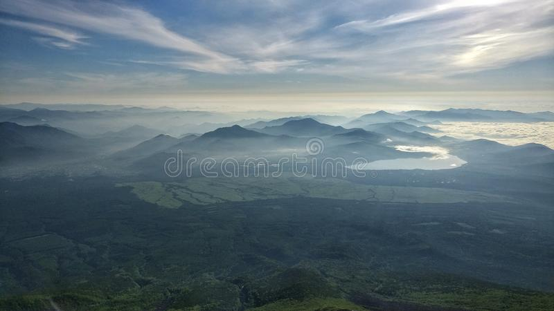 The view from Mount Fuji stock images