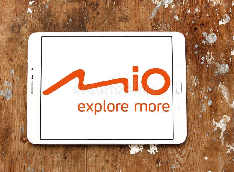 Mio Technology företagslogo royaltyfria foton