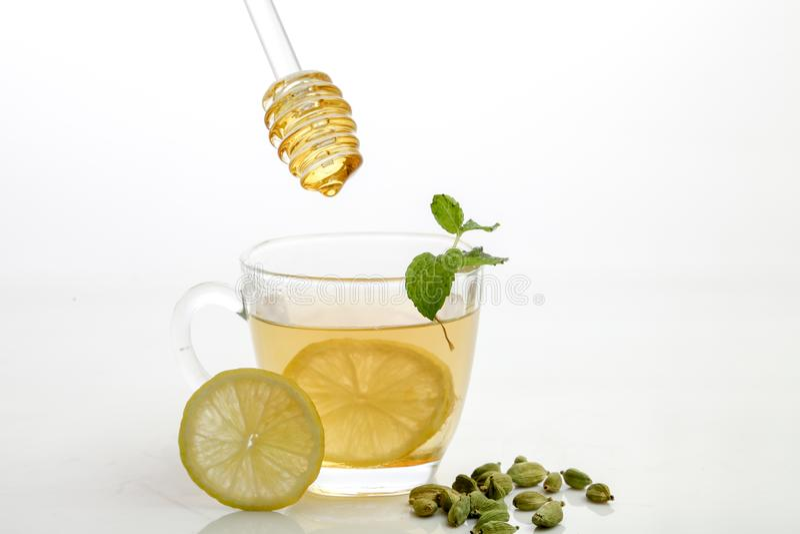 Miodowa cytryny herbata fotografia royalty free