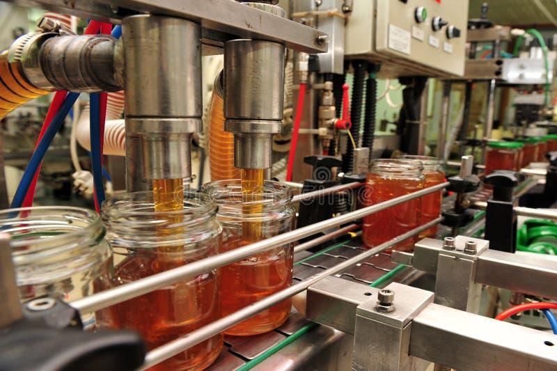 Miodowa fabryka - linia produkcyjna zdjęcie royalty free