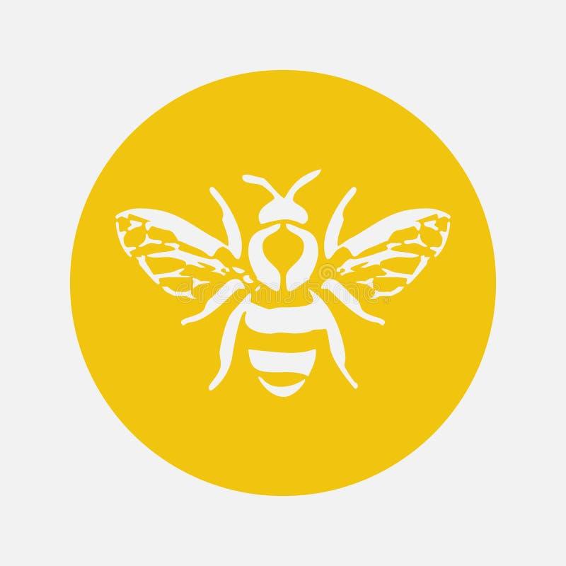 Miodowa pszczoły ikona również zwrócić corel ilustracji wektora ilustracja wektor