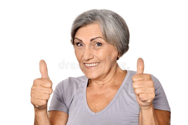 Miodowa stara kobieta fotografia royalty free
