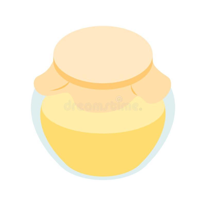 Miodowego banka isometric 3d ikona royalty ilustracja