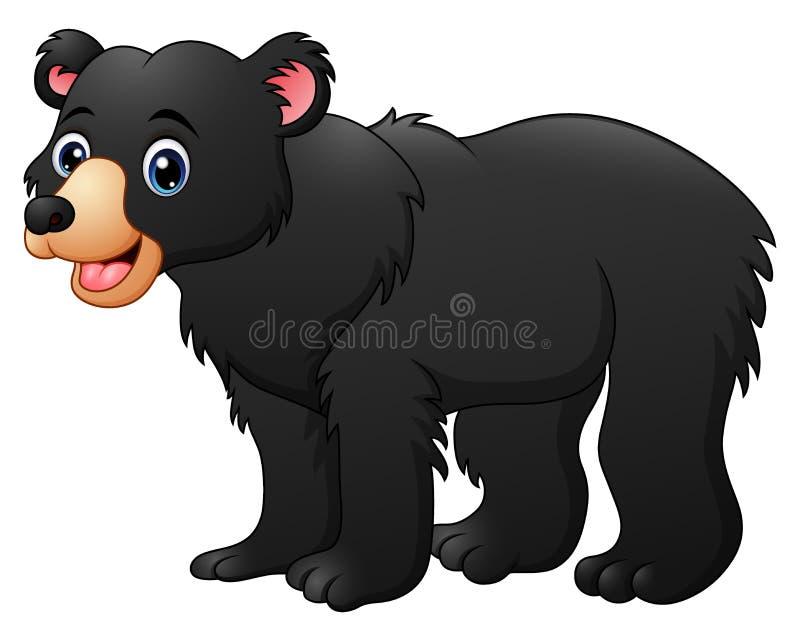Miodowego niedźwiedzia kreskówka royalty ilustracja