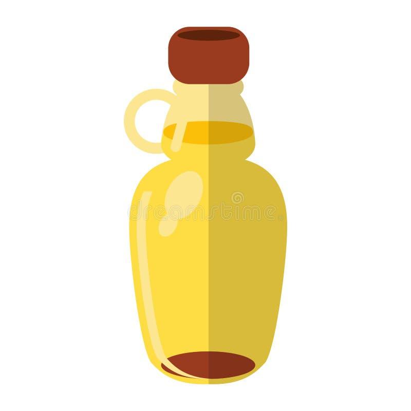 Miodowy butelki kreskówki symbol royalty ilustracja