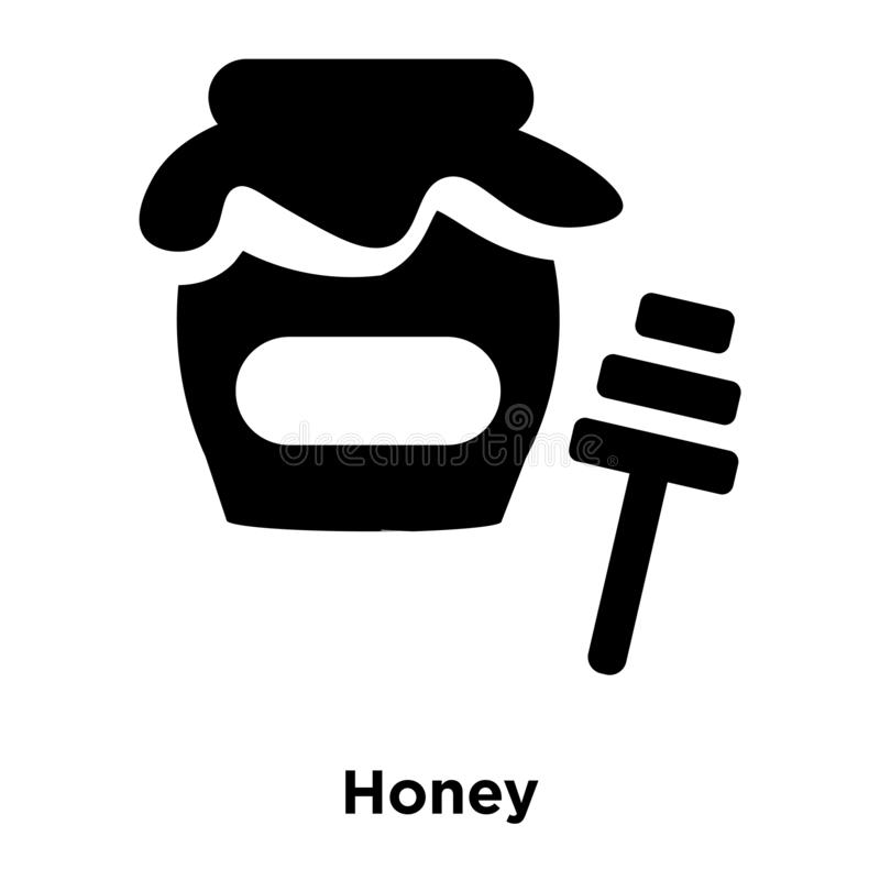 Miodowy ikona wektor odizolowywający na białym tle, loga pojęcie ilustracji