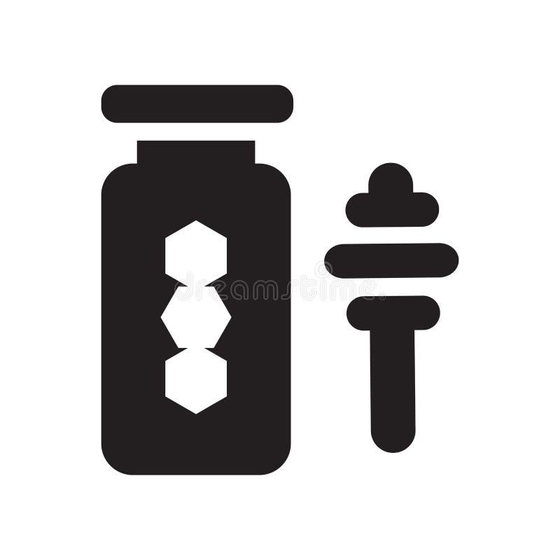 Miodowy ikona wektoru znak i symbol odizolowywający na białym tle, Miodowy logo pojęcie ilustracji
