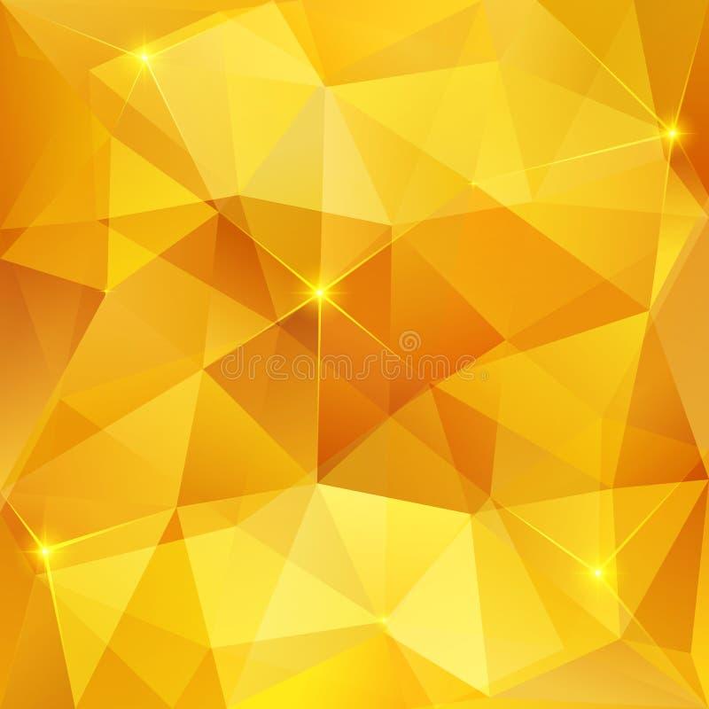 Miodowy krystaliczny wektorowy abstrakta wzór ilustracji