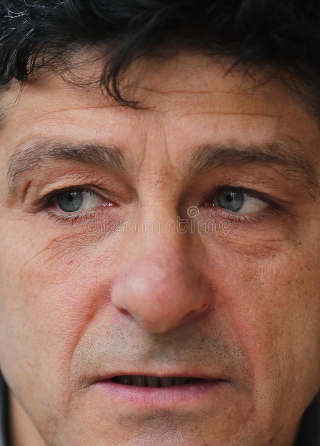 Miodrag Belodedici, ρουμανικός συνταξιούχος ποδοσφαιριστής στοκ φωτογραφία