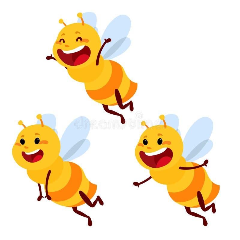 Miodu i pszczoły charakter Miodowy wektor ilustracja wektor