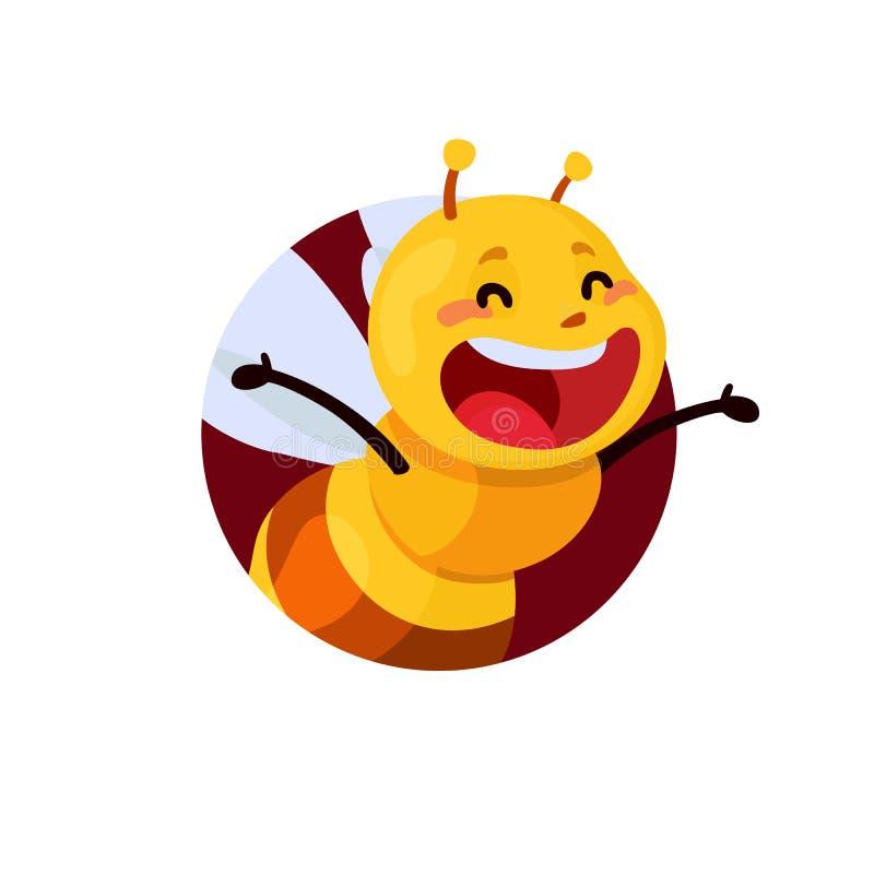 Miodu i pszczoły charakter Miodowy wektor royalty ilustracja