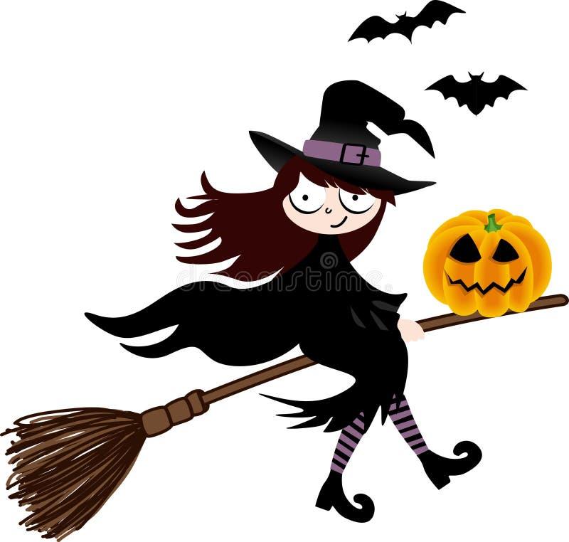 miotła target2075_1_ Halloween bani czarownicy ilustracji