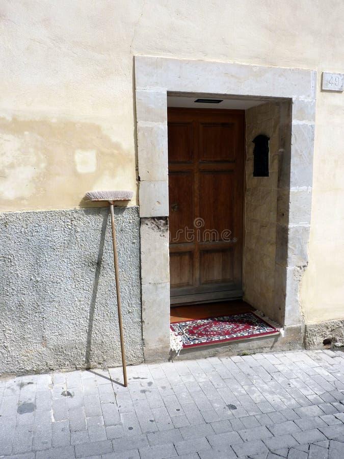 miotły drzwi obraz stock