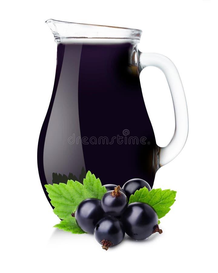 Miotacz blackcurrant sok zdjęcia stock