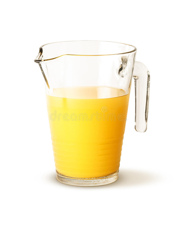 Miotacz wypełniający z sokiem pomarańczowym fotografia royalty free
