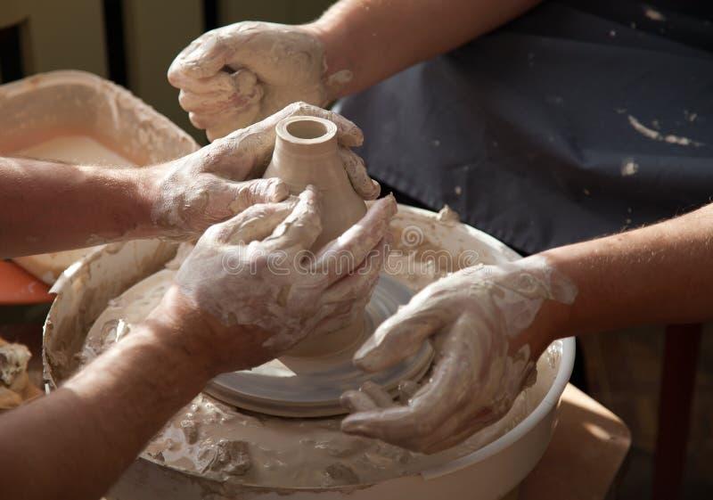 miotania ceramiczny koło fotografia stock