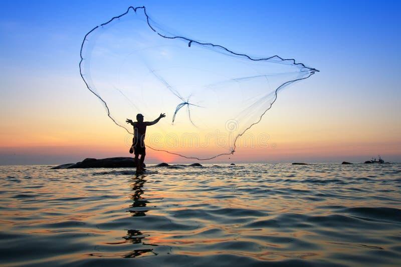 Miotanie sieć rybacka zdjęcie royalty free