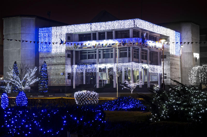 Mioveni stadshus royaltyfria bilder