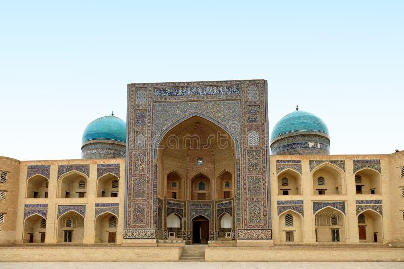Mir-я-араб Medressa, Бухара, Узбекистан Исторический, здание стоковые фото