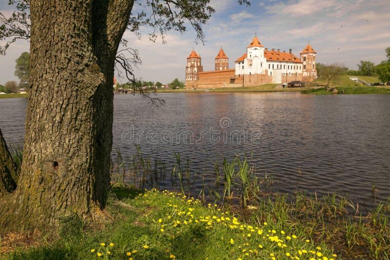 Mir, BELARUS - May 20, 2017: Mir Castle in Minsk region - historical heritage of Belarus. UNESCO World Heritage. Traveling on Bela stock photo