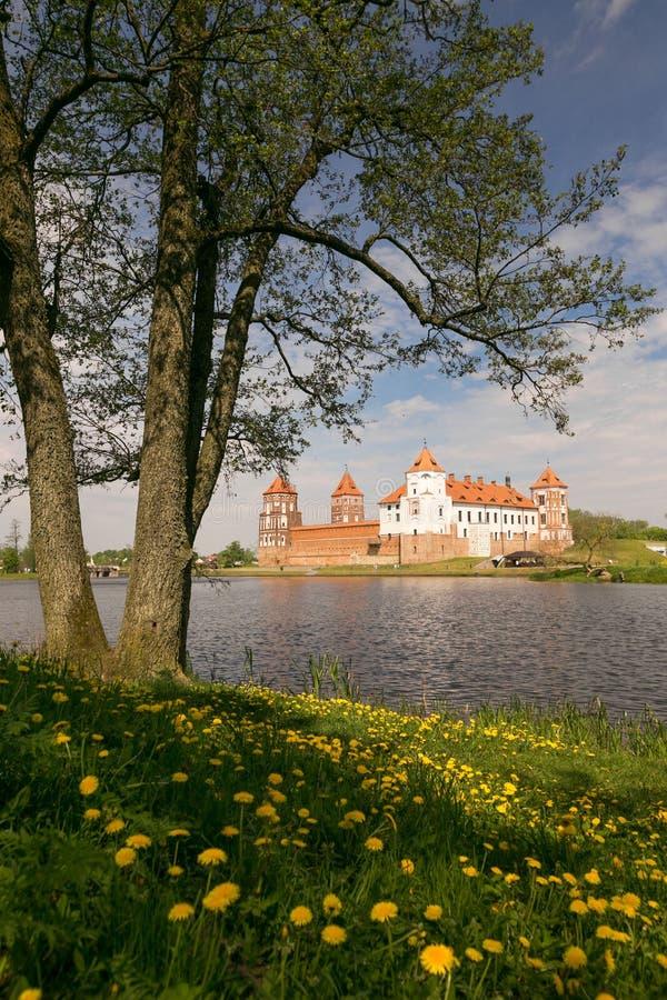 Mir, BELARUS - May 20, 2017: Mir Castle in Minsk region - historical heritage of Belarus. UNESCO World Heritage. Traveling on Bela stock photos