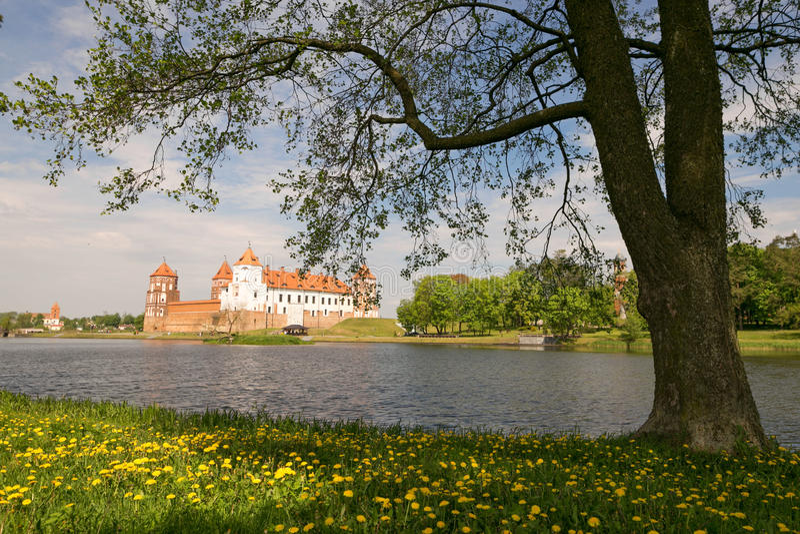 Mir, BELARUS - May 20, 2017: Mir Castle in Minsk region - historical heritage of Belarus. UNESCO World Heritage. Traveling on Bela royalty free stock photography