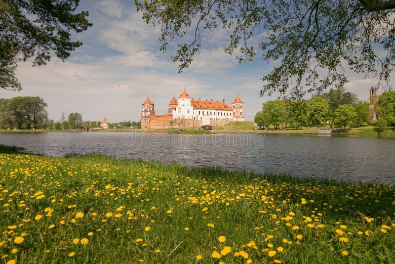 Mir, BELARUS - May 20, 2017: Mir Castle in Minsk region - historical heritage of Belarus. UNESCO World Heritage. Traveling on Bela stock image