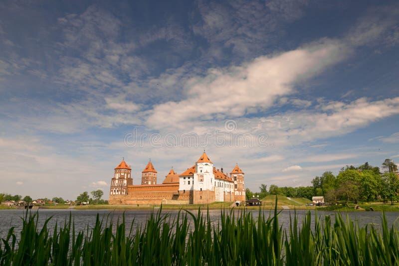 Mir, BELARUS - May 20, 2017: Mir Castle in Minsk region - historical heritage of Belarus. UNESCO World Heritage. Traveling on Bela royalty free stock images