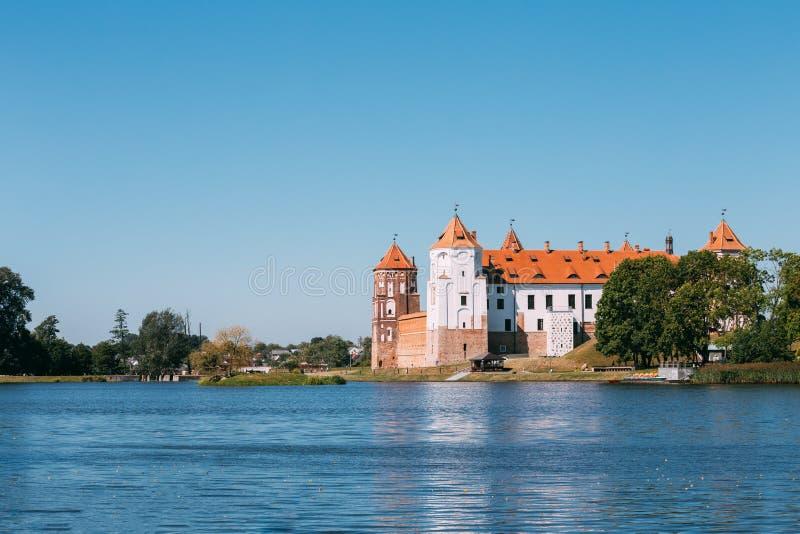 Mir, Belarus. View Of Mir Castle Complex, Ancient Monument, Unes stock photos