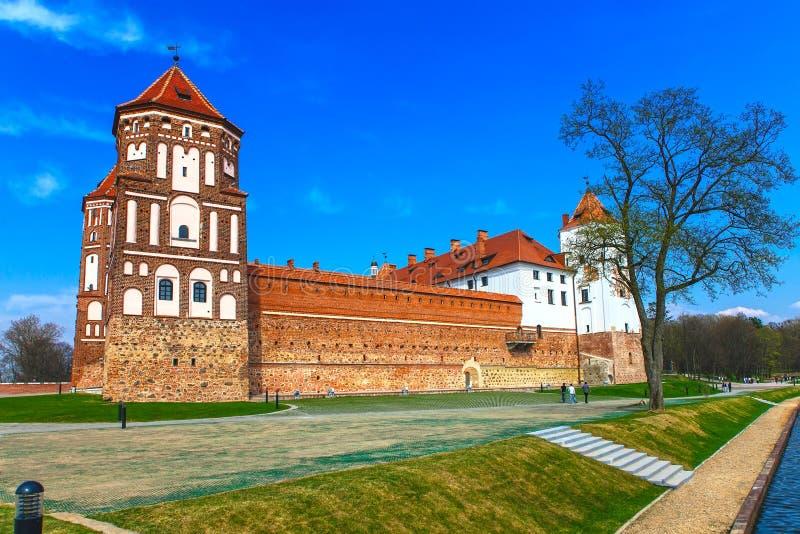 Mir Castle σύνθετο στοκ εικόνες