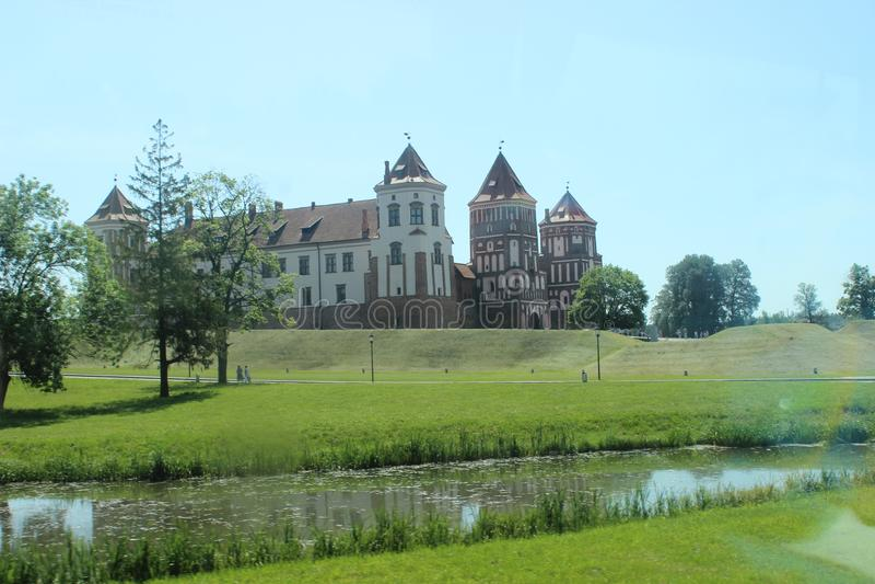 Mir Castle Belarus royalty-vrije stock fotografie