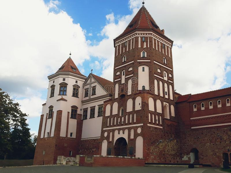 Mir Castle Complex in Belarus stock photography
