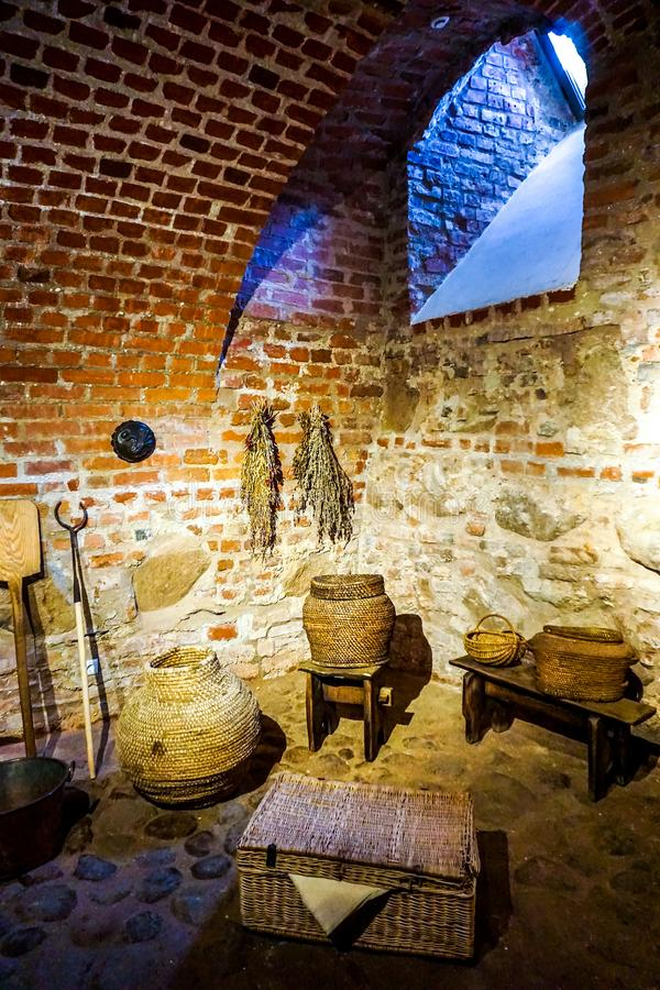 Mir Castle Complex Cellar stock images