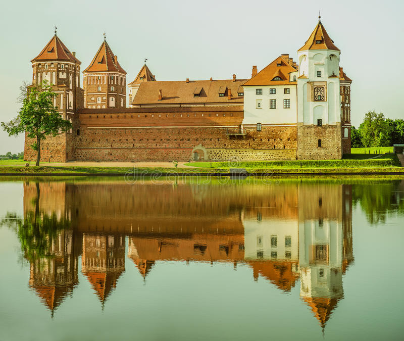 Mir Castle Complex stock images