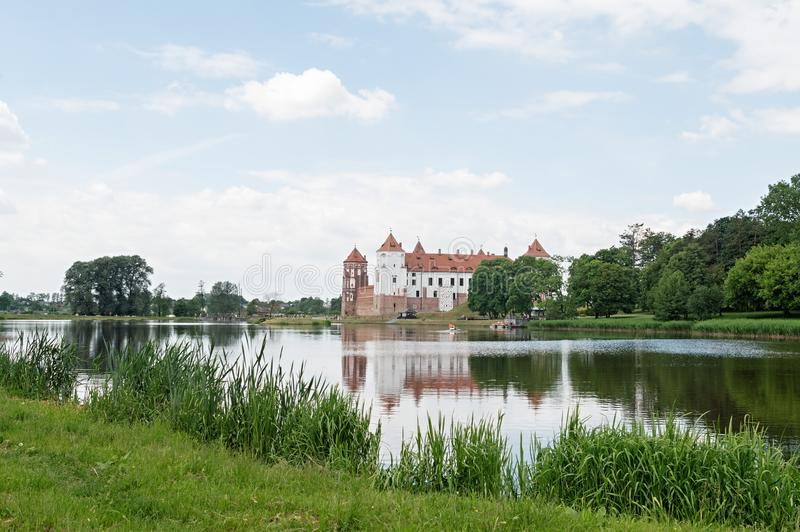Mir castle complex in unique monument of the national culture of Belarus royalty free stock images