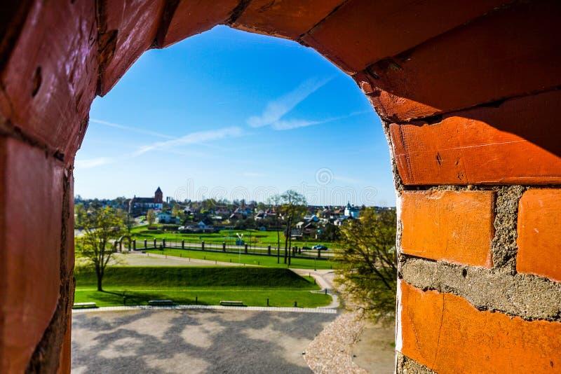 Mir Castle Complex Window imagem de stock