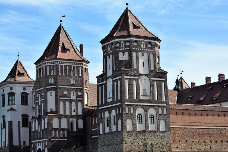 Mir Castle in Wit-Rusland royalty-vrije stock foto's
