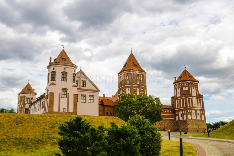 Mir Castle is a World Heritage Site from UNESCO, East Europe. Mir Castle Complex of XVI-XX centuries stock photography