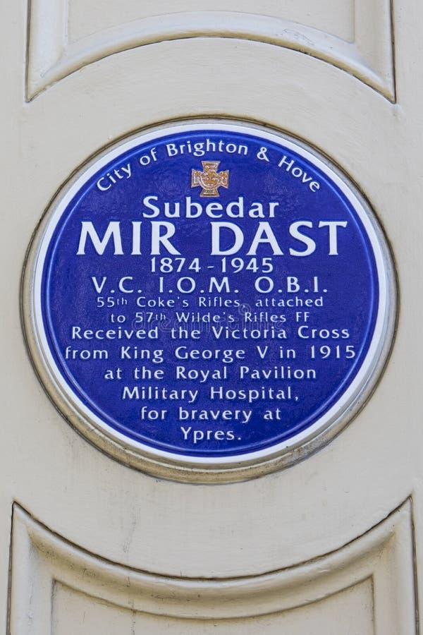 Mir Dast Plaque à Brighton photos libres de droits