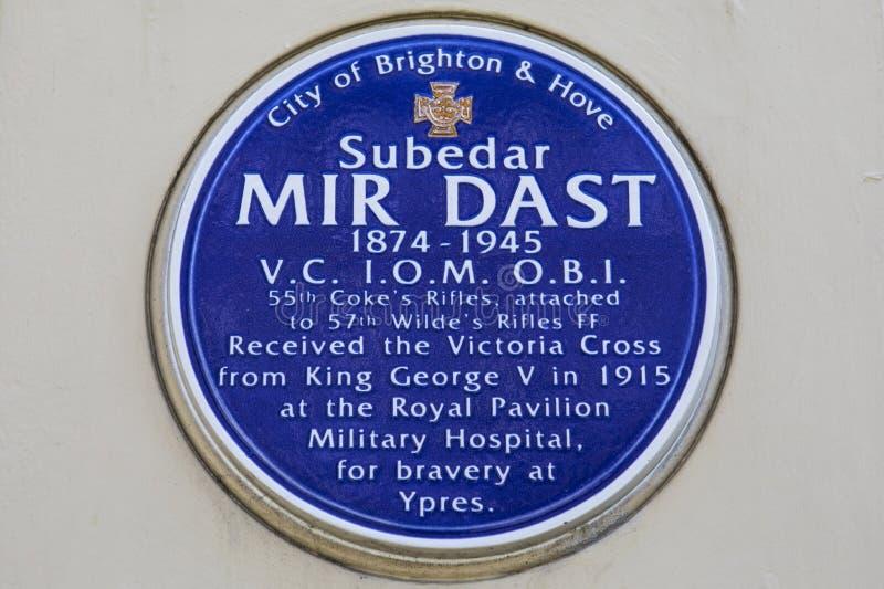 Mir Dast Plaque à Brighton images libres de droits