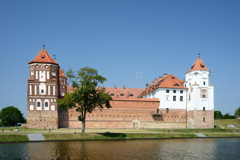 MIR de château, Belarus images libres de droits